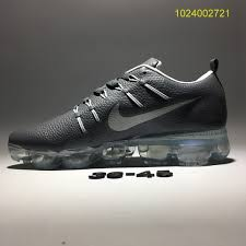 new nike air vapormax flyknit leather gray men s athletic running shoes