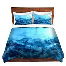 turquoise blue fine art duvet covers king queen twin nature