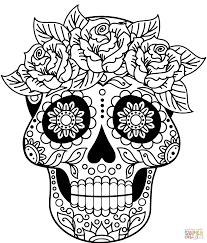 Design A Sugar Skull Online Sugar Skull Coloring Page Free Printable Coloring Pages