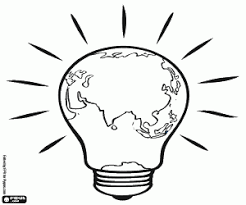Energy Consumption A Light Bulb Coloring Page Printable Game