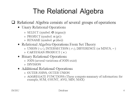 relational algebra symbols databaseim isu1 fundamentals of database systems chapter 6 the