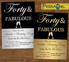Invitation Cards For 40th Birthday Party 16 40th Birthday