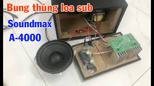 Tháo xem bên trong thùng sub loa Soundmax A4000 - YouTube