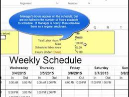 How To Make Schedules For Employees Make Employee Schedules In Microsoft Excel