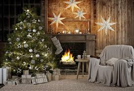 Image result for christmas tree fireplace