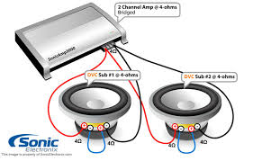 monoblock amp wiring diagram subwoofer wiring diagrams sonic electronix amp bridged see diagram