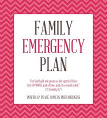 Create A Family Emergency Plan Perfectly Printable Freebies