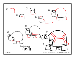 Small Picture How To Draw A Turtle Art For Kids Hub Turtle Drawings and