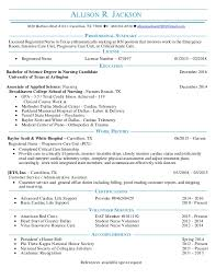 Resume For Registered Nurse Best Allison Jackson RN Resume