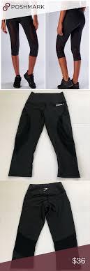 Gymshark Size Chart Gymshark Black Fusion Cropped Legging Xs Gymshark Black