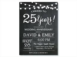 Silver Wedding Anniversary Invitations Template Metabots Co