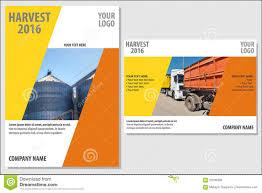 Company Presentation Template Stock Vector Illustration Of Element