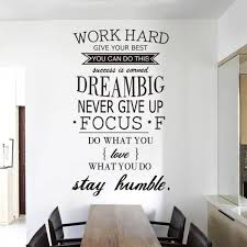 inspirational office decor. brilliant inspirational work hard stay humble inspirational quotes vinyl sticker for office decor on n