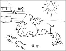 Two By Two Noah S Ark Coloring Page
