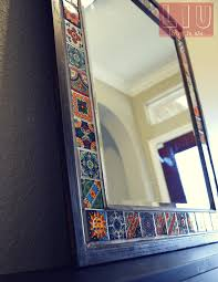 DIY Talavera Tile Mirror Living in USACOM