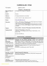 Microsoft Word Resume Template Free Download Fresh Resume Format For