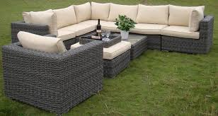 round rattan outdoor furniture for