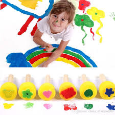 best kids painting rolling roller sponge brushes seals set painting drawing graffiti tools art supplies under 2 23 dhgate com