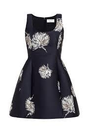 Prabal Gurung Size Chart Prabal Gurung Black Silver Fit Flare Floral Party Dress