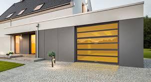 glass garage door away horizon door