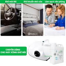 Combo 5 can Dung dịch Nano Bạc khử mùi diệt khuẩn cho nhà ở ô tô chính hãng  MC Pharma, máy xông khói hương quế - Chăm sóc nội thất