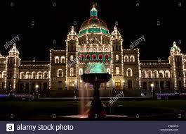 Victoria Parliament Building Lights Victoria Bc Canada Provincial Parliament Buildings With