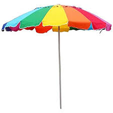 beach umbrella. Unique Umbrella Beach Umbrella Rainbow Color With Carry Bag  8 Foot Throughout H