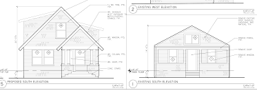 Tiny House Plans Approved By Alameda Review BoardFront view of house   before and after the remodel