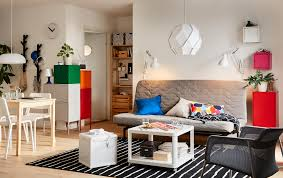 white living room furniture small. A Small Grey And White, Open Plan Living Space With NYHAMN Sofa Bed In White Room Furniture