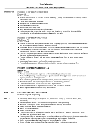 Process Engineering Resume Samples Velvet Jobs