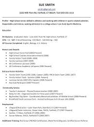 High School Resume For College Sample Builder Example Students