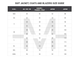 Australian Mens Suit Shirt And Pants Size Conversion Guide