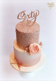 Rose Gold Cake Rose Gold Birthday Cake Glittery Birthday Cake With