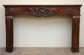 antique louis xv period walnut and beechwood mantel