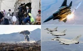 Image result for آلسعود در 24 ساعت گذشته 50 نوبت بر سر مردم یمن بمب ریخت!