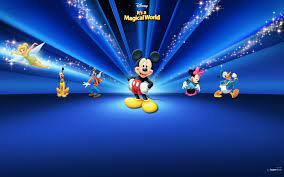 Disney Characters Dark Blue Mac ...