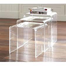 clear acrylic table 3 piece nesting acrylic end tables clear clear acrylic tabletop display clear acrylic table
