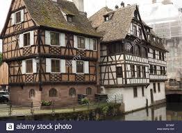 two meval timber framed buildings strasbourg france