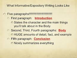 informative writing informative expository an informative essay  what informative expository writing looks like five paragraphs