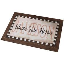 front door mats outdoorPersonalized Bless This Home Doormat 17 x 27 Available in 5