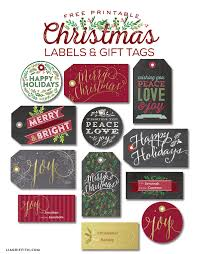 Free Printable Christmas Gift Tags And Labels Round Up  Five Spot Christmas Gift Tag Design