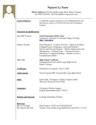 High School Resume Examples With No Experience Kadil