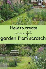start a successful garden from scratch