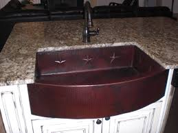 picture of 33 um rounded front copper farmhouse sink w