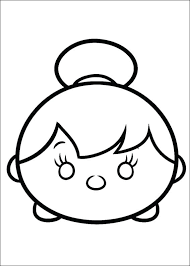 Tsum Tsum Coloring Pages Printable Coloring Pages Black And White