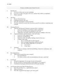College Outline Format For Research Paper Basic Apa Rawnjournals