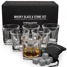 crystal whiskey set andrew james crystal whiskey glasses with stones whisky on the rocks gift box