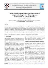 Nanda Nursing Diagnosis Pdf Model Documentation Of Assessment And Nursing Diagnosis