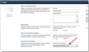Sharepoint 2010 Library Template Onenote And Metadata In Sharepoint Add A Notebook To A Library