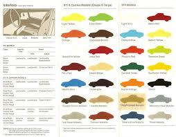 List Of Original Factory Colors 74 Pelican Parts Forums